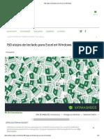 150 atajos de teclado para Excel en Windows.pdf