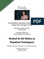 Suzy Horn Benefit Art Show Catalog