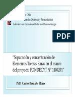Presentation 10 - Carlos Basualto - Separación y concentración por SX de tierras raras