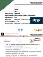 CMP Unit 12 Contract Performace Management PPT Final