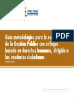 Guía metodológica para la evaluación de la Gestión Pública con enfoque basado en derechos humanos, dirigida a las veedurías ciudadanas - Septiembre 2016 (1)