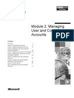 2.Managing User and Computer Accounts