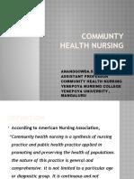 COMMUNTY HEALTH NURSING