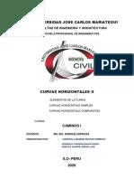 EJERCICIOS DE CURVAS HORIZONTALES II
