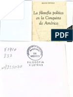 Silvio Zavala - La filosofía política de la conquista de América (Capítulos 1, 2 y 3)