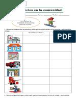Guía servicios en la comunidad  2° basico