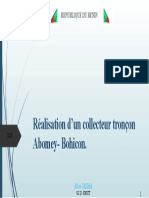 Réalisation d'un collecteur tronçon Abomey- Bohicon
