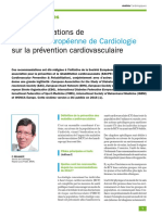 Recos  prevention cardiovasculaire 2016