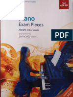 Piano Pieces 2020 2021 Initial Grade ABRSM