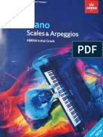 Scales Initial Grade Piano ABRSM