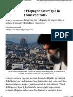 Coronavirus _ l'Espagne assure que la «situation est sous contrôle»