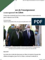 Paris au secours de l'enseignement francophone au Liban