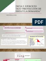 Evidencia 5 Ejercicio Práctico Proyección de la oferta y la demanda