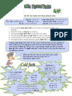 health phrasal verbs fun activities games