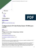 Configuración de TP-Link Modem Router TD-8816 para CANT... en Taringa!