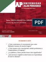 SEMANA 1 - PSICOLOINGUISTICA.- ORIGEN Y CAMPOS DE ACCIÓN