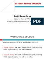 Chapter-4-- Basic weft Structure of Knitting & Fabric Properties