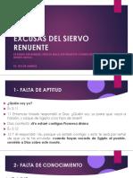 EXCUSAS DEL SIERVO RENUENTE