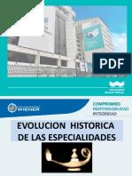 1°  EVOLUCION HISTORICA DE LAS  ESPECIALIDADES