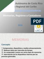 MEMORIAS REGISTROS CONTADORES