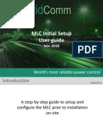 MLC GC133X initial setup UG11071801-03-3
