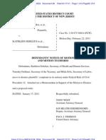 PURPURA,  et al. v SEBELIUS, et al. - 26 -Cross MOTION to Dismiss and response in opposition to plaintiffs' motion for default summary judgment  - 11915461265.26.0