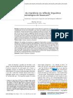 Arrivé, Michel - Qual o papel da imanência na reflexão de Saussure?.pdf
