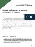 El rol del capital social y de la cultura