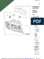 Audi A6 C5 - Demontaż świateł