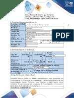 Guía actividades y rúbrica evaluación - Paso 2 - Metodologías para diseño de proyectos de TI