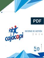 INFORME DE GESTIÓN. Informe de Gestión 2014 Cajacopi..docx