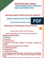 10) DERECHO PROBATORIO EN EL PROCESO PENAL OCTUBRE 2018