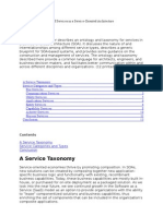 Ontology and Taxonomy of Services in a Service