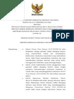 KMK No. HK.01.07-MENKES-446-2020 ttg JUKNIS Klaim Biaya Pasien Infeksi Emerging Tertentu Bagi RS Pelayanan COVID-19