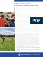 Blueprint for How Afterschool Programs Community Partners Can Help