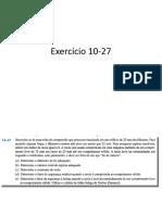 Exercício 10-27