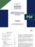 2008-09 Washington DC Area Kosher Community Survey - Final Survey Report