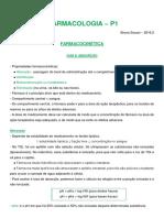 Resumo Farmaco P1 - Bruna Sossai