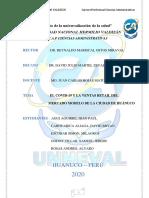 El impacto del covid-19 en el mercado Modelo de Huánuco // UNHEVAL
