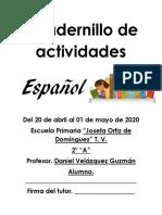 Cuadernillo de actividades español