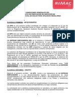 CLAUSULAS DE  SEGURO RIMAC