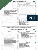 Check List Ejecutivos Gerente zona