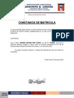 Constancia de Matricula_ricardo Pino Flores