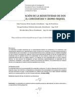 DETERMINACIÓN DE LA RESISTIVIDAD DE DOS CONDUCTORES CONSTANTAN Y CROMO-NIQUEL