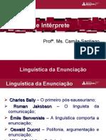 Linguística da enunicação (Bally, Jakobson, Benveniste e Ducrot)