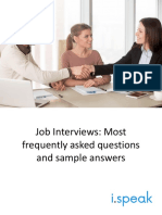 Job Interviews_Most frequently asked questions and sample answers