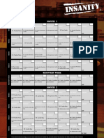 Insanity Calendario Español