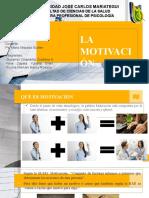Grupo 1 La motivación - Psicologia organizacional