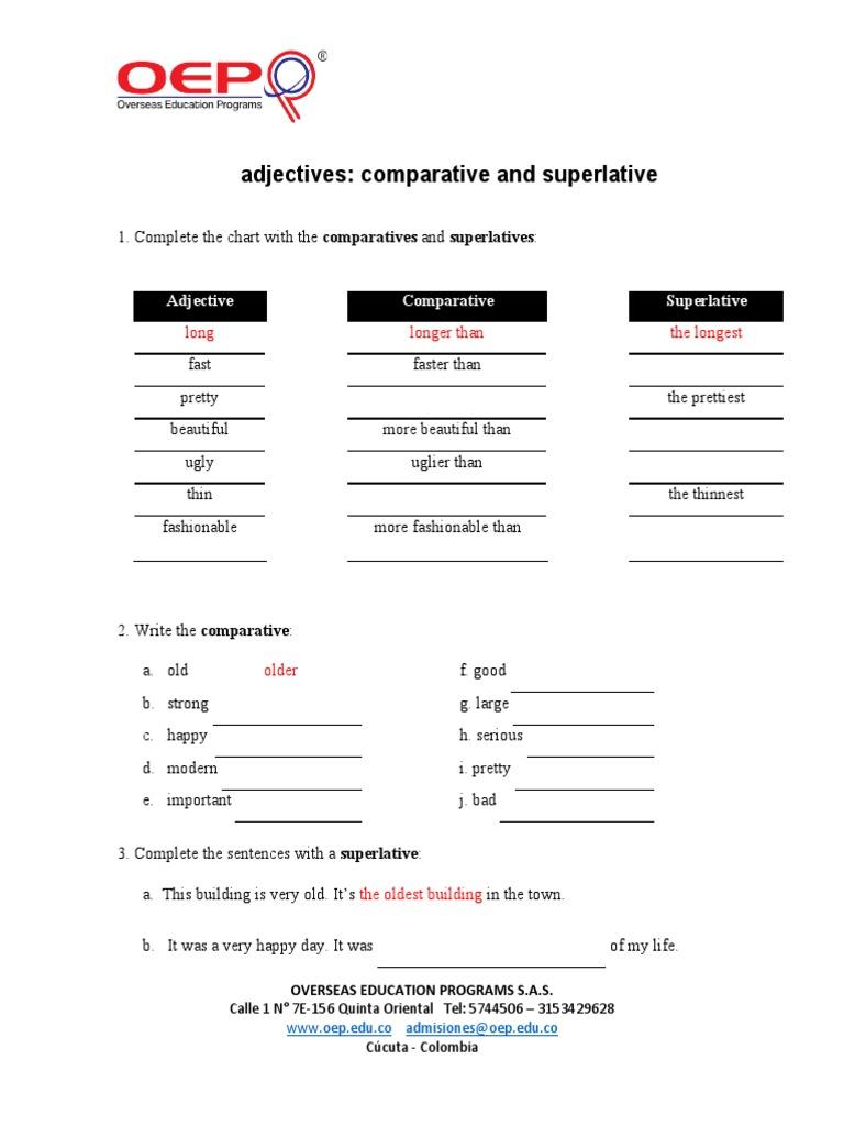 Adjectives Comparative And Superlative Language Mechanics Softlines Retail