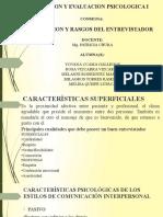 MEDICION Y EVALUACION PSICOLOGICA I  expo